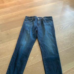 Ag Adriano Goldschmied Jeans - AG THE FARRAH SKINNY HIGH RISE BLUE JEANS SZ 31R